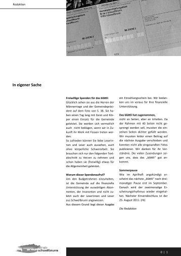 Homepage Juniheft 2011 - Gemeinde Schwellbrunn