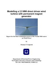 Modelling a 2.5 MW direct driven wind turbine with permanent ...