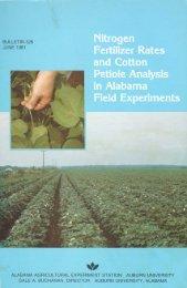 Nitrogen Fertilizer Rates and Cotton Petiole Analysis in - Auburn ...