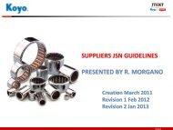 Supplier Guidelines - portal.koyobearings.com
