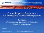Cyber Physical Systems – An Aerospace Industry Perspective