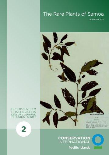 The Rare Plants of Samoa - Conservation International