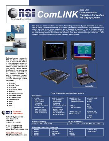 RSI ComLINK Brochure.indd - Redondo Systems Inc.