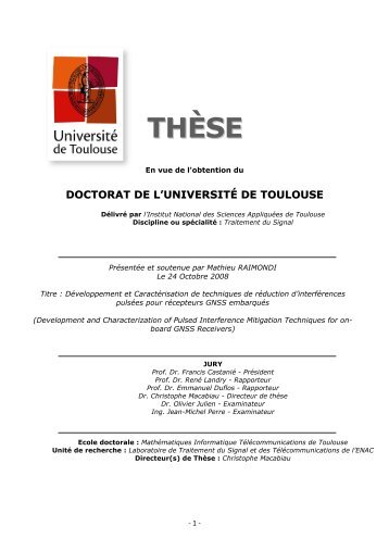 THÈSE - le serveur des thèses en ligne de l'INSA de Toulouse
