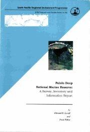 Palolo Deep National Marine Reserve - SPREP