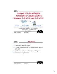 Analysis of L-Band Digital Aeronautical Communication Systems: L ...