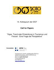Call for Papers - HTW Chur