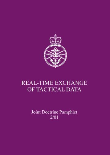 JDP 2-01 Real Time Exchange of Tactical Data - Integrated Defence ...