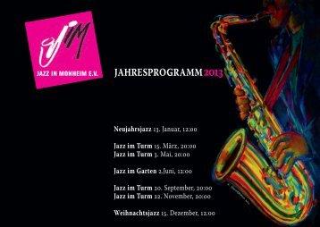 Jahresprogramm 2013 JiM - Monheim am Rhein