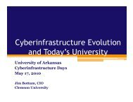 Cyberinfrastructure - High Performance Computing - University of ...