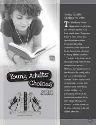 2010 Young Adults' Choices - International Reading Association