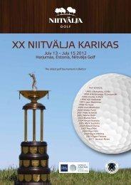 XX NIITVÄLJA KARIKAS - Niitvälja Golf