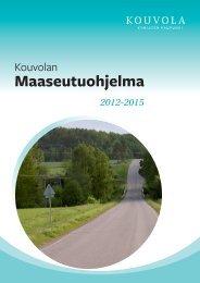 Maaseutuohjelma (pdf) - Kouvola