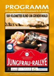 PROGRAMM - Internationale Jungfrau-Rallye