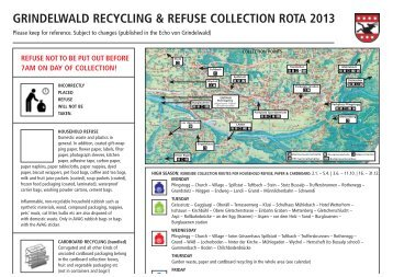 grindelwald recycling & refuse collection rota 2013 - Gemeinde ...