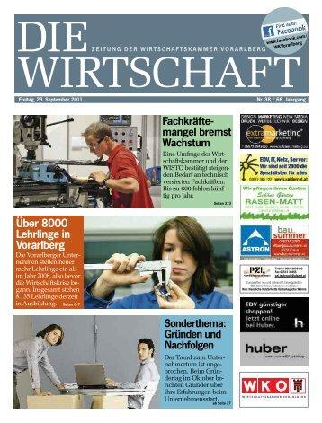 Die Wirtschaft Nr. 38 vom 23. September 2011