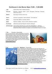 Hochtouren in den Berner Alpen 10.08 – 13.08.2006 - DAV Sektion ...