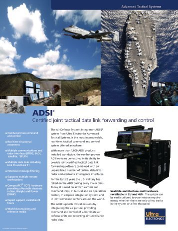 Air Defense Systems Integrator - Ultra Electronics Advanced Tactical ...