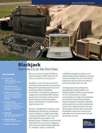 Blackjack - Ultra Electronics Advanced Tactical Systems