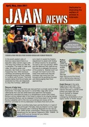Newsletter JAAN April May June 2011 - Jakarta Animal Aid Network