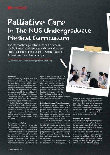 Palliative Care in the NUS Undergraduate Medical ... - SMA News