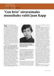 """""""Con brio"""" säravaimaks muusikuks valiti Jaan Kapp - Ajakiri"""
