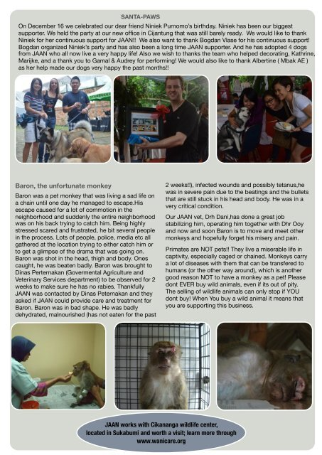 JAAN News March 2013 - Jakarta Animal Aid Network