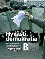 Hyvästi demokratia (SK 18/2007) - Suomen Kuvalehti