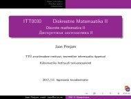 ITT0030 Diskreetne Matemaatika II - TTÜ Küberneetika Instituut
