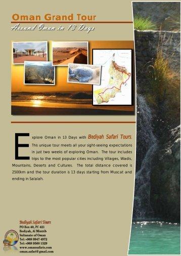 Oman Grand Tour - Oman Safaris
