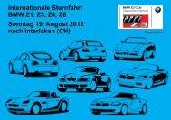 Internationale Sternfahrt BMW Z1, Z3, Z4, Z8 ... - Seeblick Garage