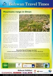 Bahwan Travel Times - July 2012 - Bahwan Travel Agencies