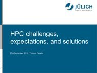 HPC challenges, expectations, and solutions
