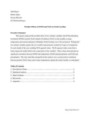 John Boyer - NCSU Statistics - North Carolina State University