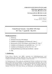 Virtual Private Networks - Cisco VPN Client - Forschungszentrum ...