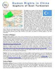 East Turkestan - Uyghur American Association