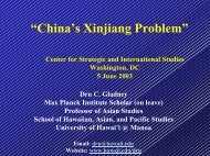 """""""China's Xinjiang Problem"""" - Center for Strategic and International ..."""