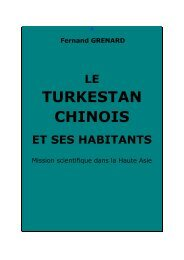Fernand GRENARD LE TURKESTAN CHINOIS ... - Chine ancienne