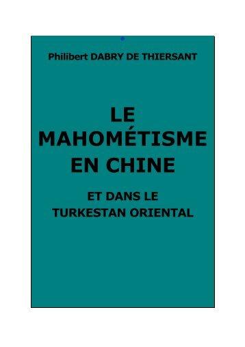 Le mahométisme en Chine et dans le Turkestan ... - Chine ancienne
