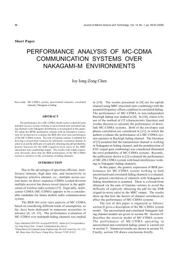 performance analysis of cooperative communication for Ieee projects :: wireless communication - titles & abstracts analysis and design of cooperative bicm-ofdm systems 3 error-rate performance analysis of incremental decode-and-forward opportunistic relaying 11.