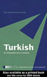 Turkish: A Comprehensive Grammar