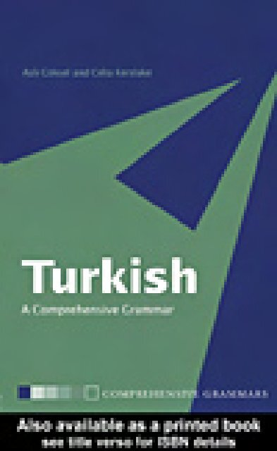 Turkish A Comprehensive Grammar