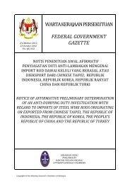 warta kerajaan persekutuan federal - Ministry of International Trade ...