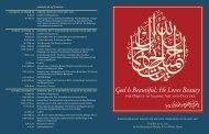table of contents - Islamic Art Symposium Islamic Art Symposium