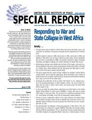 Responding to War and State Collapse in West Africa