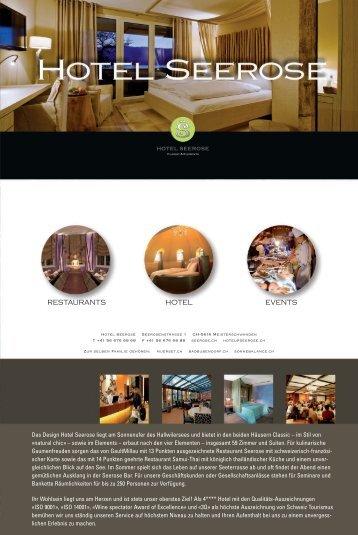 Hotelflyer - Hotel Seerose