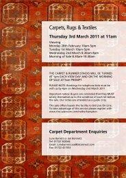 Carpets, Rugs & Textiles - Auction Mart