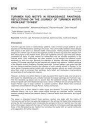 TURKMEN RUG MOTIFS IN RENAISSANCE PAINTINGS ...
