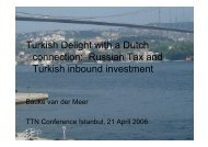 Turkish Delight with a Dutch connection: Russian Tax and Turkish ...
