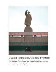 Uyghur Homeland, Chinese Frontier: - UNPO